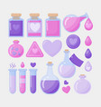 love potion flat icon set vector image