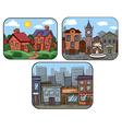 town scenes vector image