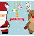 Santa and reindeer cartoon of Chistmas design vector image