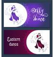banner belly dance vector image