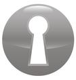 Keyhole gray icon vector image