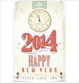 Happy New Year retro background vector image vector image