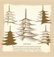 asian pagoda vintage poster vector image vector image