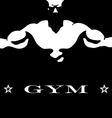 design for gym vector image