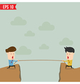 Confrontation between two business people vector image