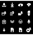 white download icon set vector image vector image