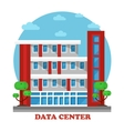 Architecture of data center building for storage vector image
