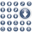 arrow glossy buttons vector image