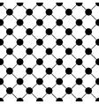 Black Polka dot Chess Board Grid White vector image
