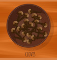cloves flat design icon vector image