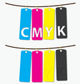 CMYK color vector image