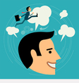 Flat style business man growth concept vector image