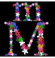m letter vector image
