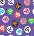 Pattern depicting characters Wi-Fi vector image