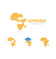 set of africa logo combination safari and embrace vector image