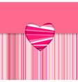 valentine striped card horizontal vector image