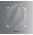 Realistic glass watermelon vector image