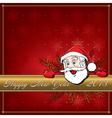 Cristmas Santa card 3 vector image