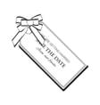Label Ribbon Bow Wedding Invintation Template Save vector image