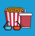 cinema related icons vector image
