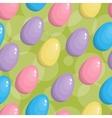 Seamless easter egg background vector image