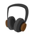 Big headphones cartoon icon vector image