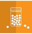 Symbol of bottle with pills vector image