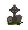 Tomb icon flat vector image