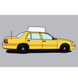 Yellow Taxi Cab vector image vector image