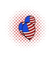 Balloons in the USA flag colors icon comics style vector image