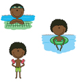 African-American swimmer boys vector image vector image