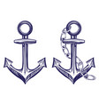 anchor stenci set symbol hand drawn vector image