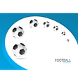 Football Background Template Design vector image