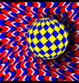 optical 3d art rotation dynamic optical effect vector image