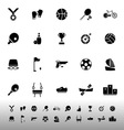 Sport game athletic icons on white background vector image