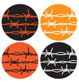 symbol barbed wire vector image