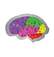 The concept of the functioning of the brain vector image