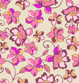 romantic floral seamless background vector image