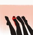 Female feet vector image vector image