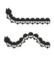 Caterpillar Icon Set on White Background vector image
