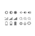 different mobile phone notification pictograms