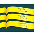 bright yellow banners or ribbons set vector image vector image