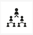pyramid scheme icon in simple black design vector image