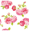 Seamless Floral Shabby Chic Background vector image