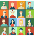 Set of avatars flat design vector image vector image
