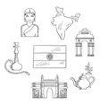 India culture and travel concept vector image