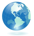 transparent blue globe vector image vector image