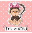 Monkey girl vector image vector image