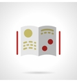 Scientific literature flat color icon vector image