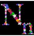 n letter vector image vector image